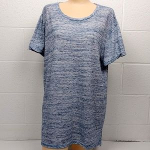 Anthropologie Marl Blue Tunic LengthShirt